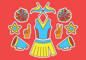 Pom-pom girl éléments vecteur