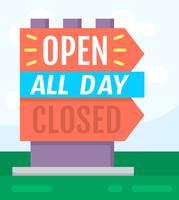 Signe ouvert / fermé
