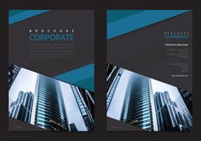 Modèle de brochure professionnelle. Modèle de Flyer de marketing d'entreprise vecteur