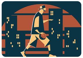 vecteur de basket de rue