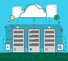 Cloud computing vecteur