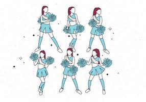 vecteur de pom-pom girl vol 4