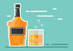 Illustration de boisson Bourbon vecteur