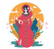 Femme dans caftan, vol 2, vecteur