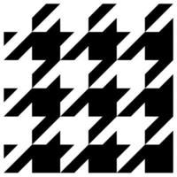 motif textile pied-de-poule bicolore vecteur