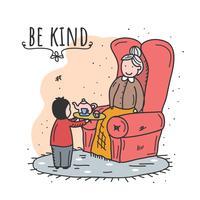 Être gentil vecteur