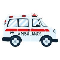 transport d'urgence en ambulance vecteur