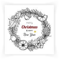 Arrière-plans de Noël et du nouvel an et carte de voeux vecteur