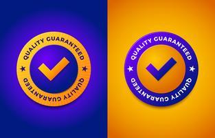 Label de garantie de qualité tampon rond