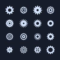 Icône de paramètres de symbole Cogs vecteur