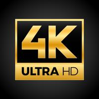 Symbole 4K Ultra HD vecteur