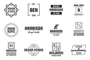 Logo vectoriel minimal pour bannière, affiche, flyer