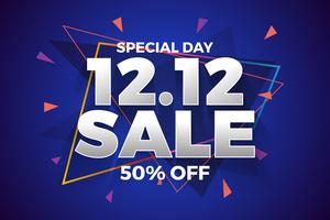 12.12 Fond de bannière de vente de magasinage jour.