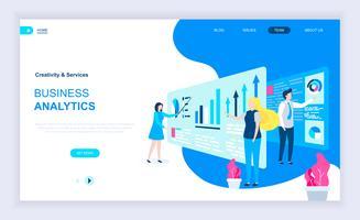 Concept de design plat moderne de Business Analytics vecteur