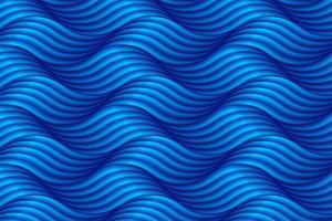 Abstrait vague bleue en style asiatique. Illustration vectorielle