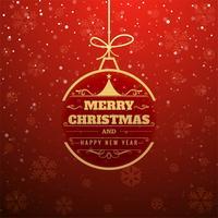 Belle carte de Noël avec fond de paillettes vecteur