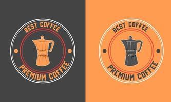 création de modèle dicône logo café vecteur