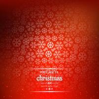 Belle carte de Noël joyeux avec fond de flocon de neige