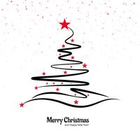 Belle conception d'arbre créatif joyeux Noël vecteur