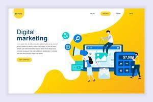 Concept de design plat moderne du marketing numérique