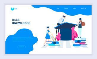 Concept de design plat moderne de connaissances de base vecteur