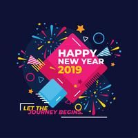 Bonne année Instagram post Vector