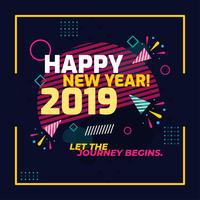 Bonne année vectoriel
