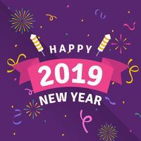 Bonne année Instagram Post vecteur