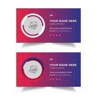modèle de conception de vecteur de mise en page de signature de courrier électronique d'entreprise personnelle professionnelle