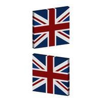 drapeau de la Grande-Bretagne sur fond vecteur