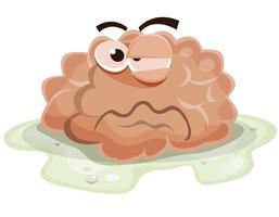 Caractère de cerveau endommagé vecteur