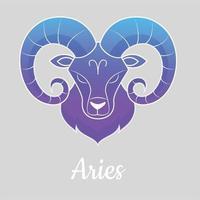 illustration vectorielle de signe du zodiaque design plat vecteur