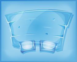 Panneau d'accord en verre transparent pour le jeu de l'interface utilisateur