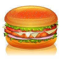 Icône De Burger De Poulet