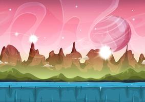 Fairy Sci-Fi Alien Landscape Pour Ui Game vecteur