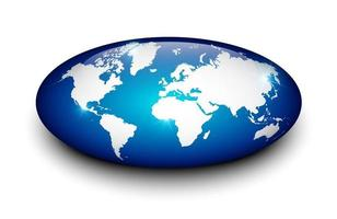 carte de la terre sur marbre isolé. vecteur