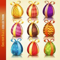Collection d'oeufs de Pâques vecteur