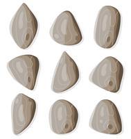 Ensemble de roches et de pierres vecteur