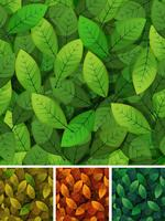 Printemps sans couture et feuilles de saisons vecteur
