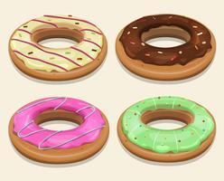 Donuts de restauration rapide vecteur