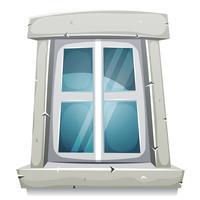 Fenêtre fermée de dessin animé vecteur