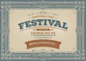 Fond de festival vintage de quatrième de juillet vecteur