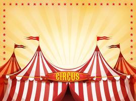 Fond de cirque Big Top avec bannière vecteur
