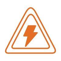 signaler la prudence avec l'icône de style rayline vecteur