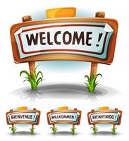 Bienvenue ferme ou pays signe vecteur