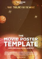 Modèle d'affiche de film vecteur