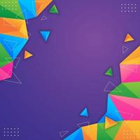 fond géométrique abstrait coloré vecteur