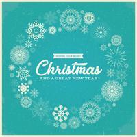 Retro Joyeux Noël Salutations vecteur