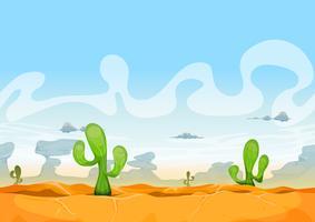 Paysage du désert occidental sans soudure pour le jeu de l'interface utilisateur