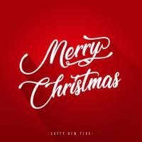 Joyeux Noël avec et Design plat vecteur